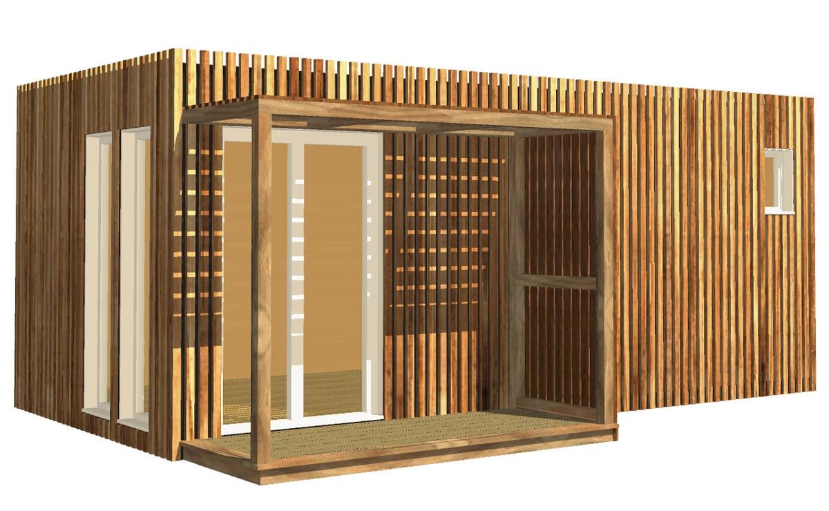Studio De Jardin En Bois, 20M² encequiconcerne Construire Un Abri De Jardin En Bois Soi Meme