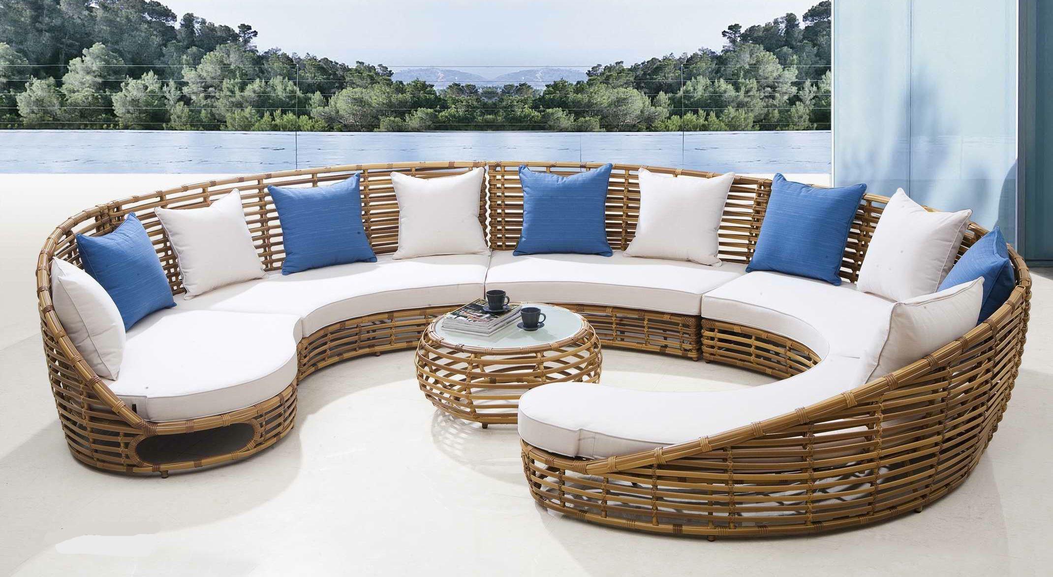 Super Chewy Patio Furniture Cushions Thick | Outdoor Wicker ... intérieur Salon De Jardin Artelia