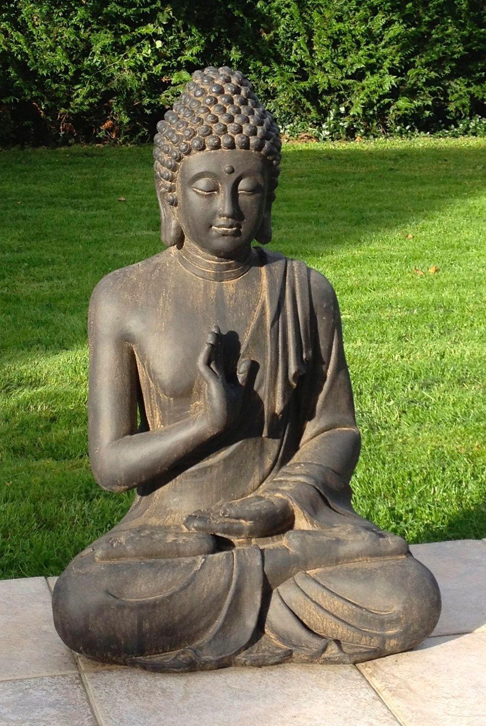 Superbe Statue De Bouddha Zen Jardin 73 Cm Pas Cher ... dedans Tete De Bouddha Pour Jardin