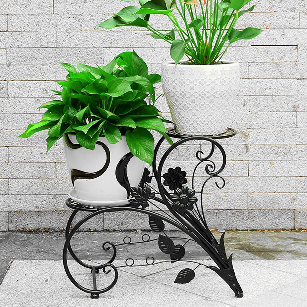 Support En Fer Pour Pot De Fleurs/bonsaï Décoration De ... intérieur Decoration De Jardin En Fer Forgé