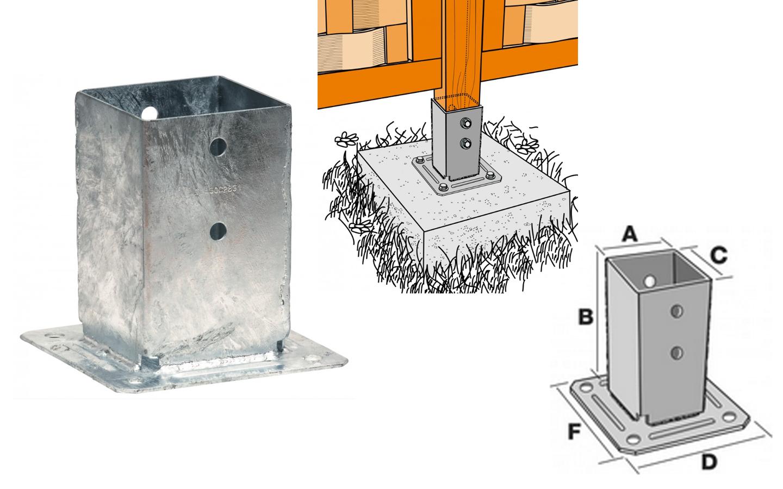 Support Pour Poteau De La Rubrique Connecteur - Achat En Ligne dedans Incinérateur De Jardin Brico Depot