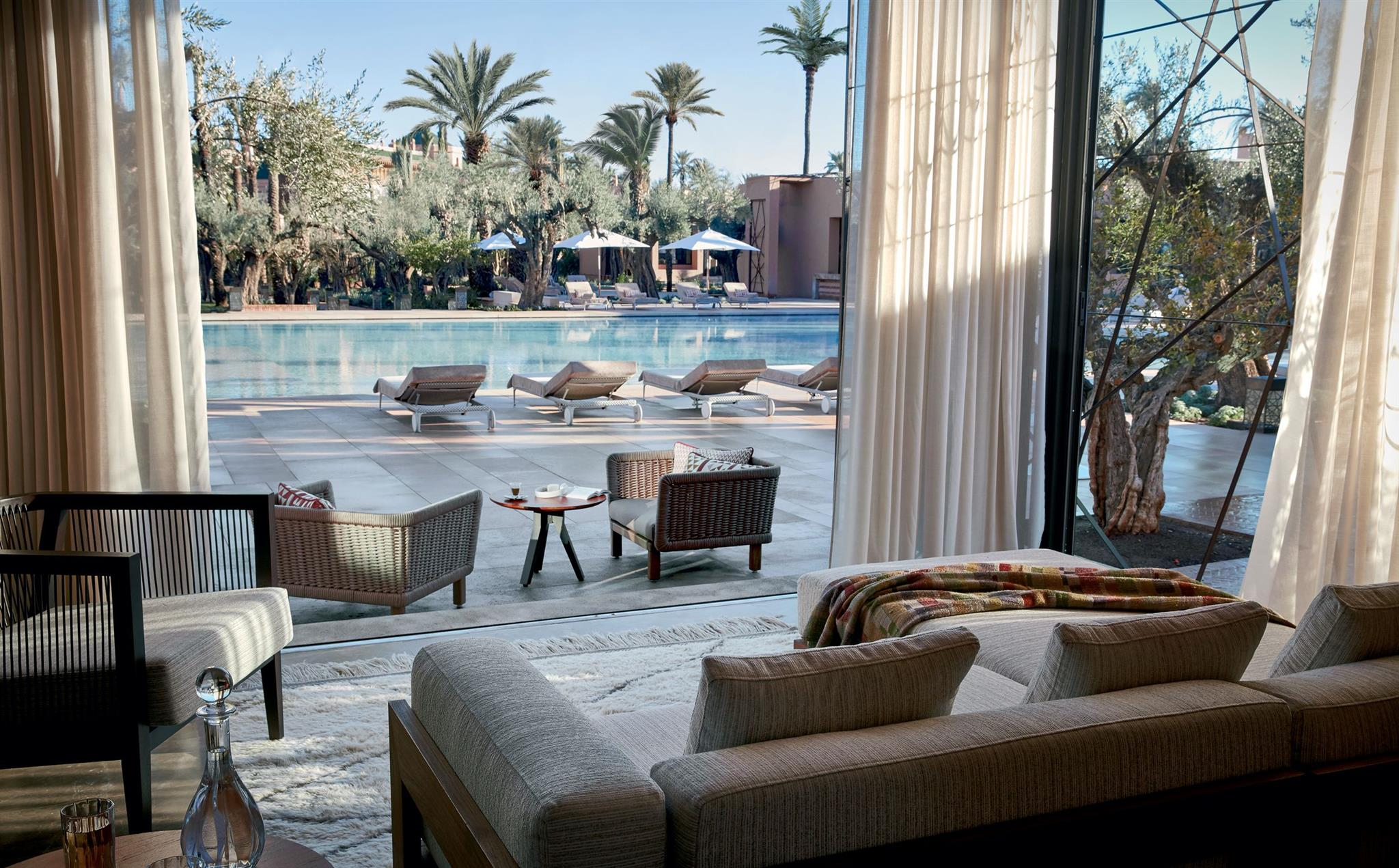 Swimming Pool In Marrakech For Luxury-Lovers   Le Jardin ... pour Prix Location Jardin