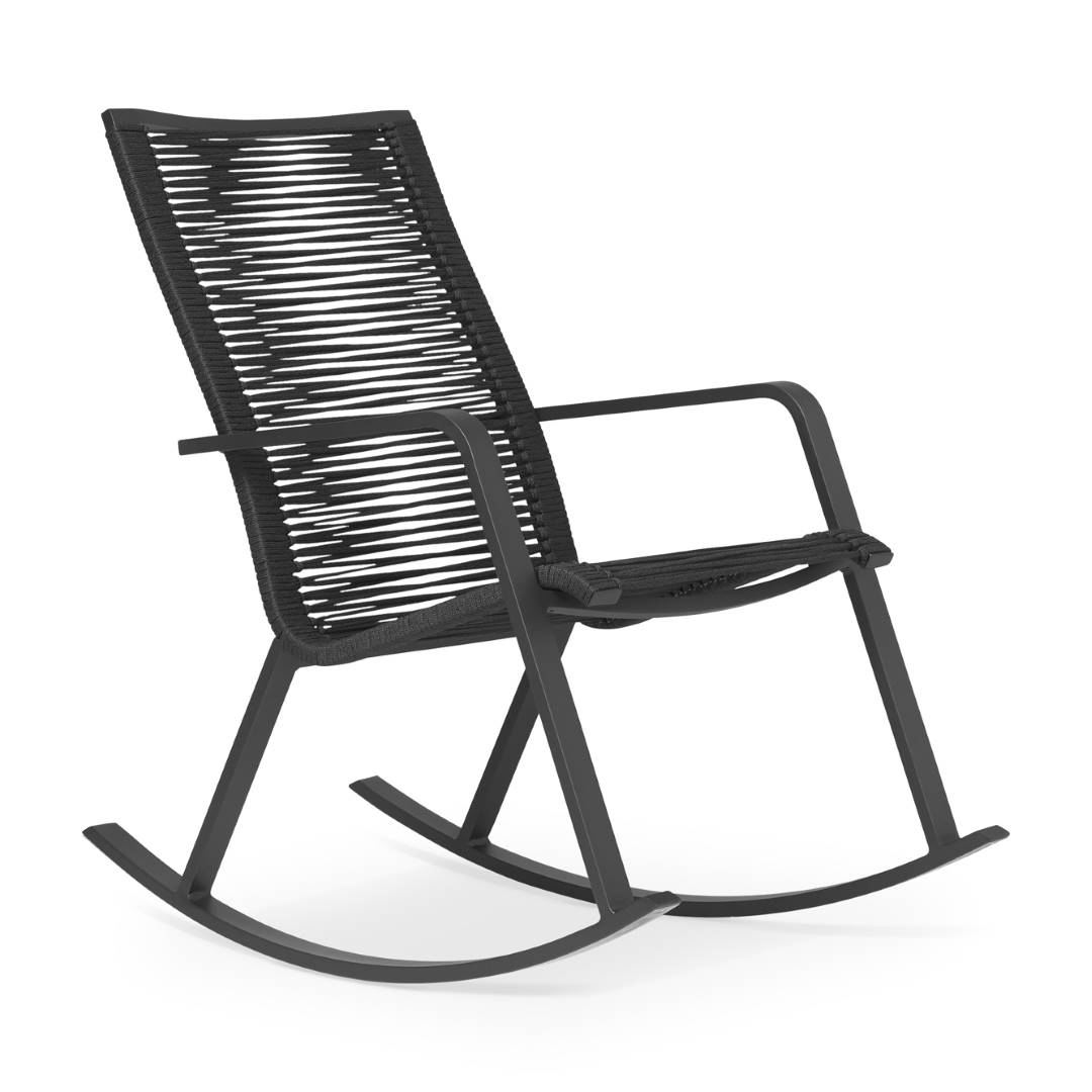 Swing By Rocking Chair - Jdv | Aluminum, Rope | Jdv intérieur Rocking Chair Jardin