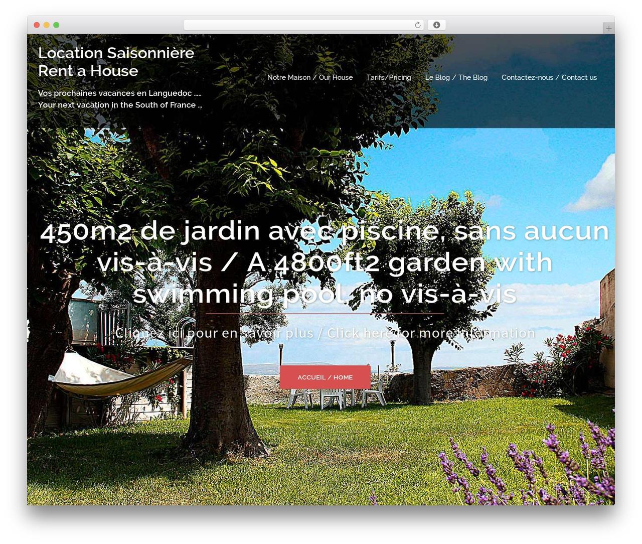 Sydney Free Wordpress Theme By Athemes - Particulier ... destiné Location Maison Avec Jardin Ile De France