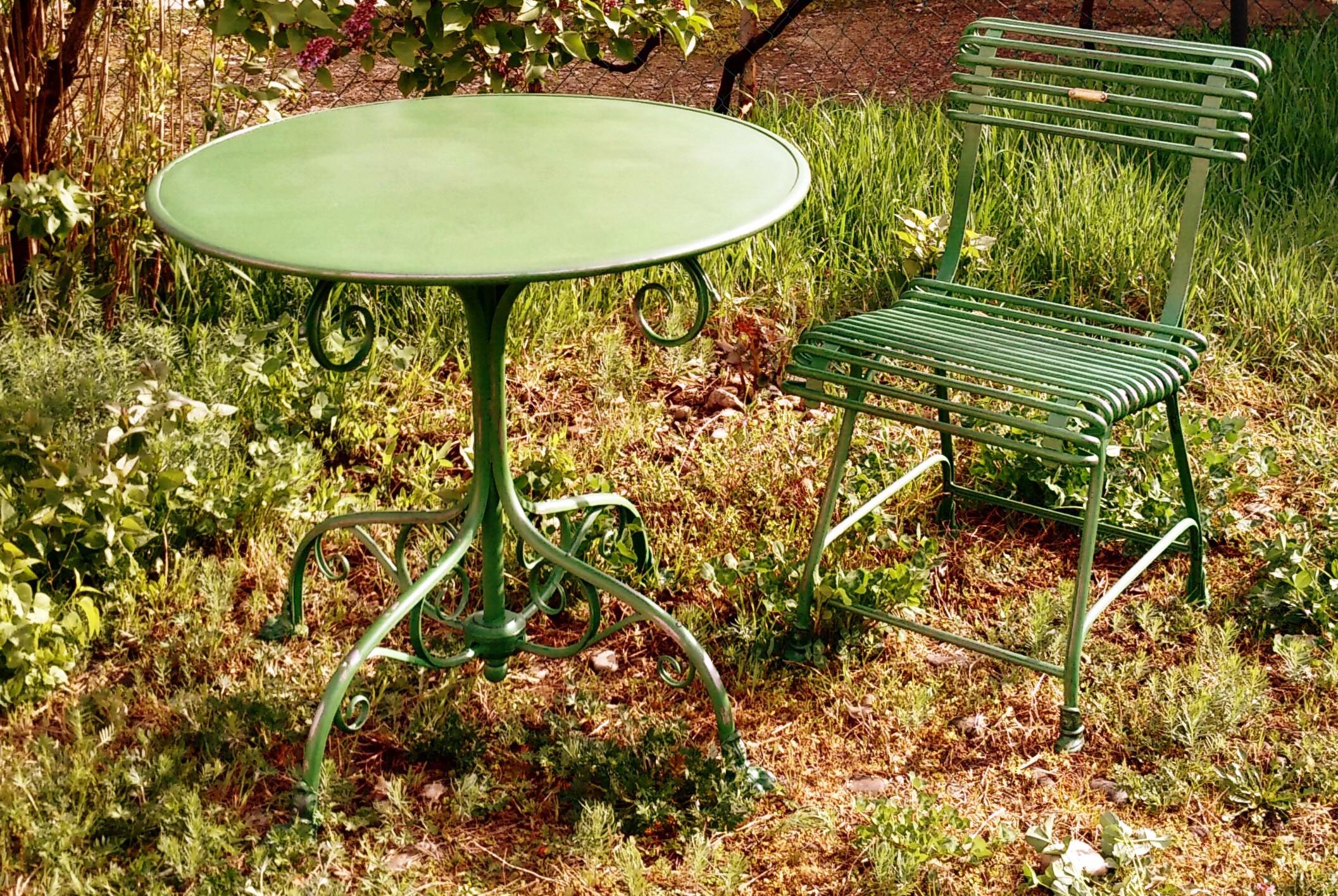 T80 - Table De Jardin Ronde - Pieds Griffe dedans Griffe De Jardin