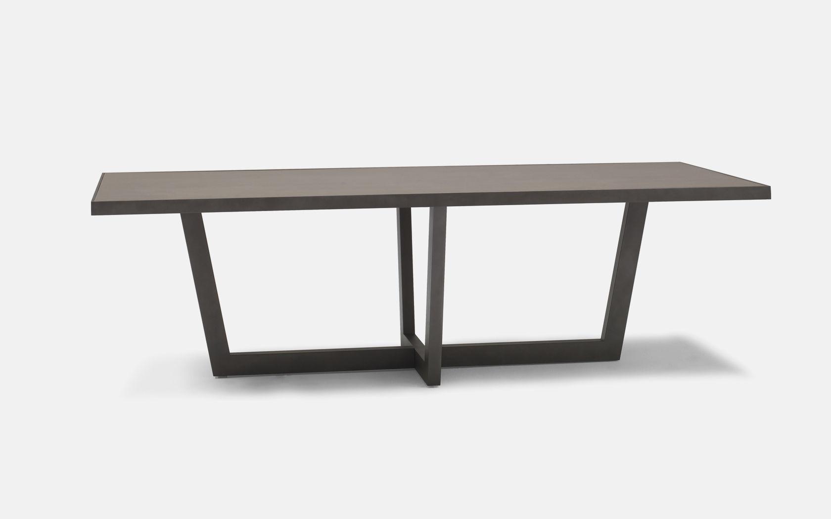 Table À Manger Contemporaine / En Céramique / En Acier ... serapportantà Table Jardin Ceramique