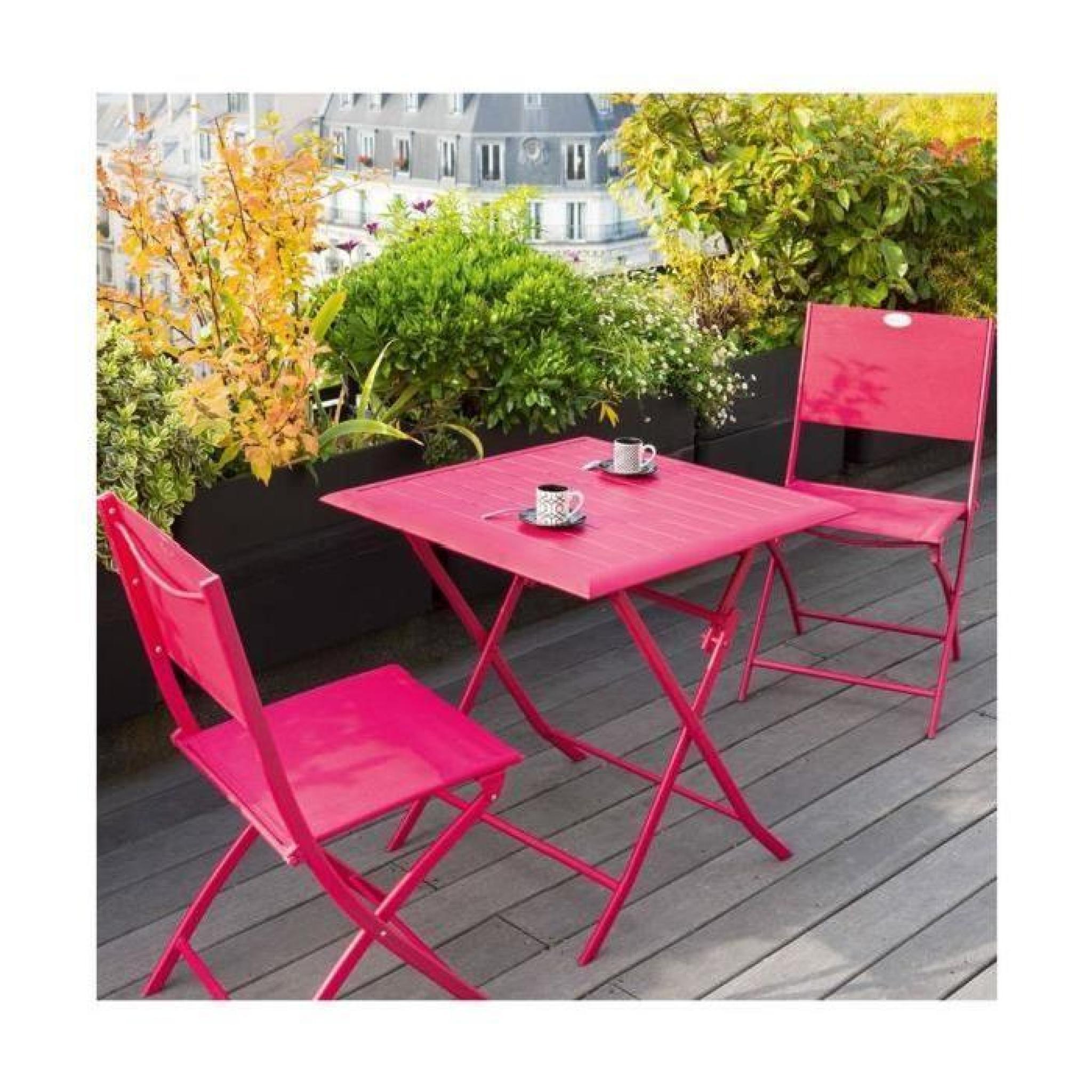 Table Azua Hesperide Pliante Alu Cerise 2 Places concernant Table Jardin Hesperide