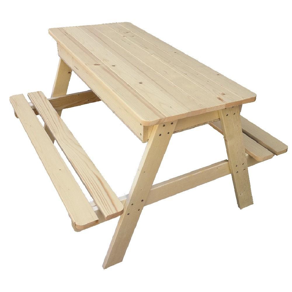 Table Bac À Sable 2 En 1 Naturelle avec Table Jardin Bois Enfant