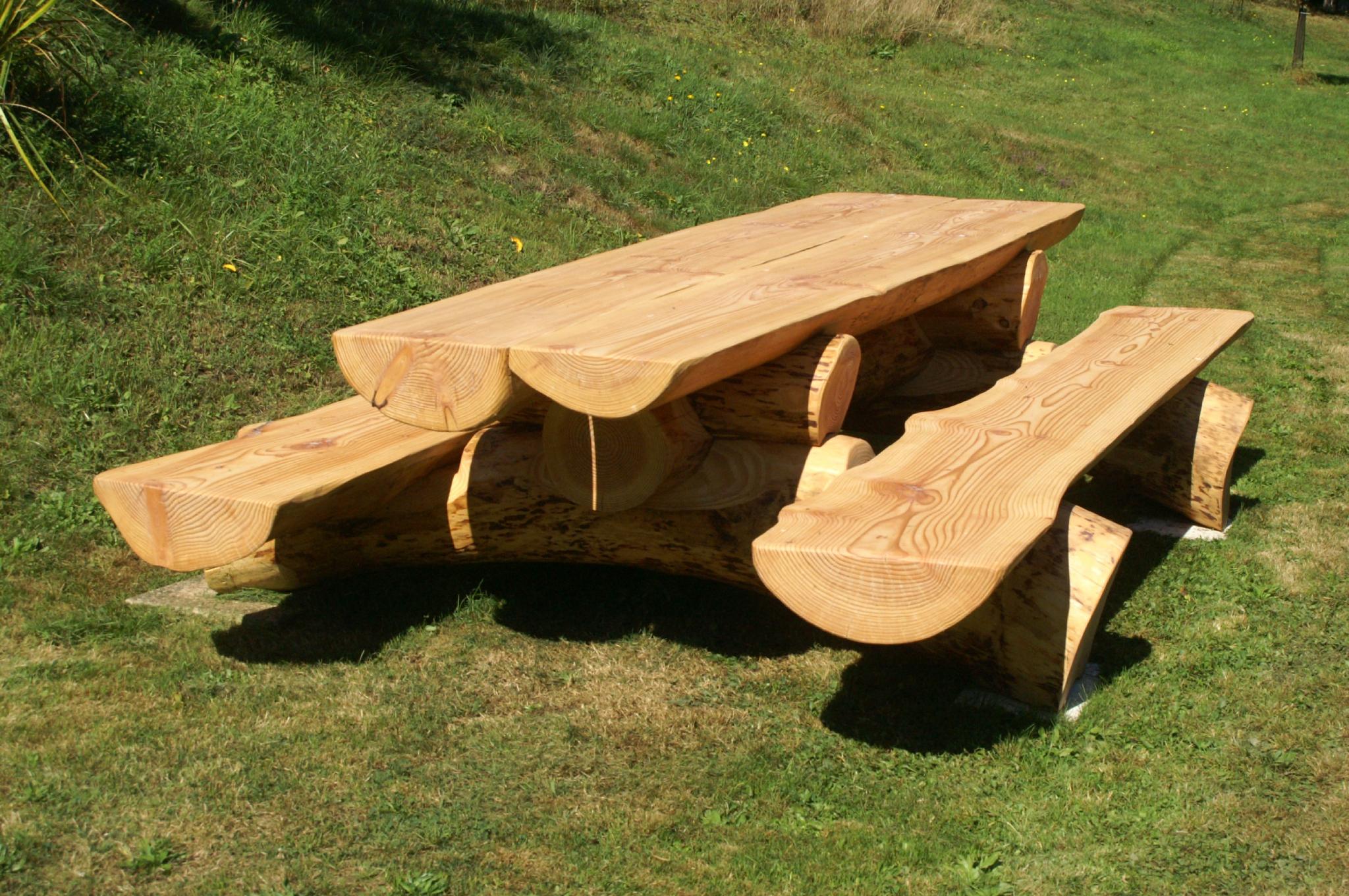Table Banc Jardin Des Idées - Idees Conception Jardin concernant Table De Jardin En Bois Avec Banc Integre
