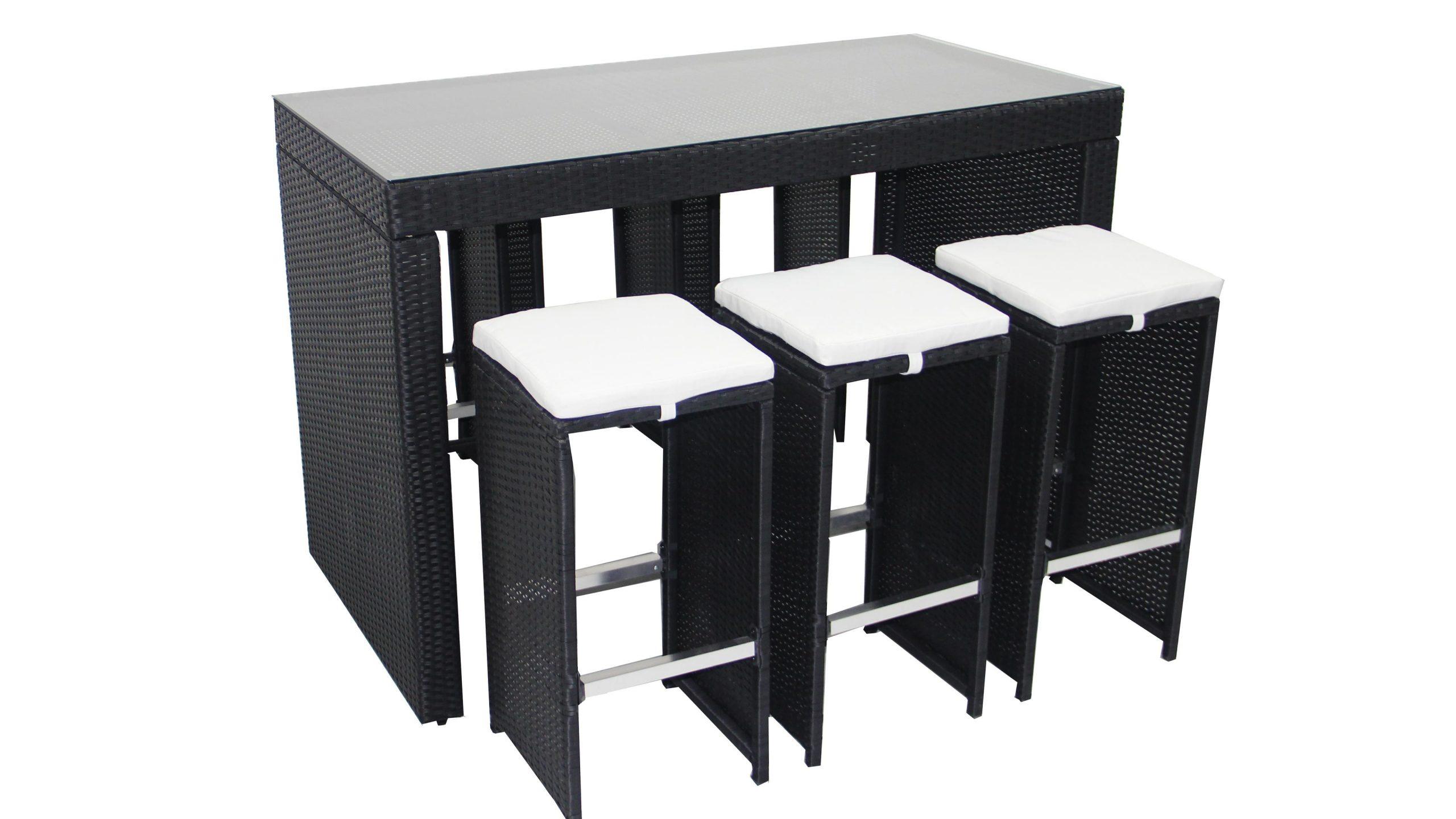 Table Bar De Jardin En Résine Tressée serapportantà Ensemble Table De Jardin Promotion