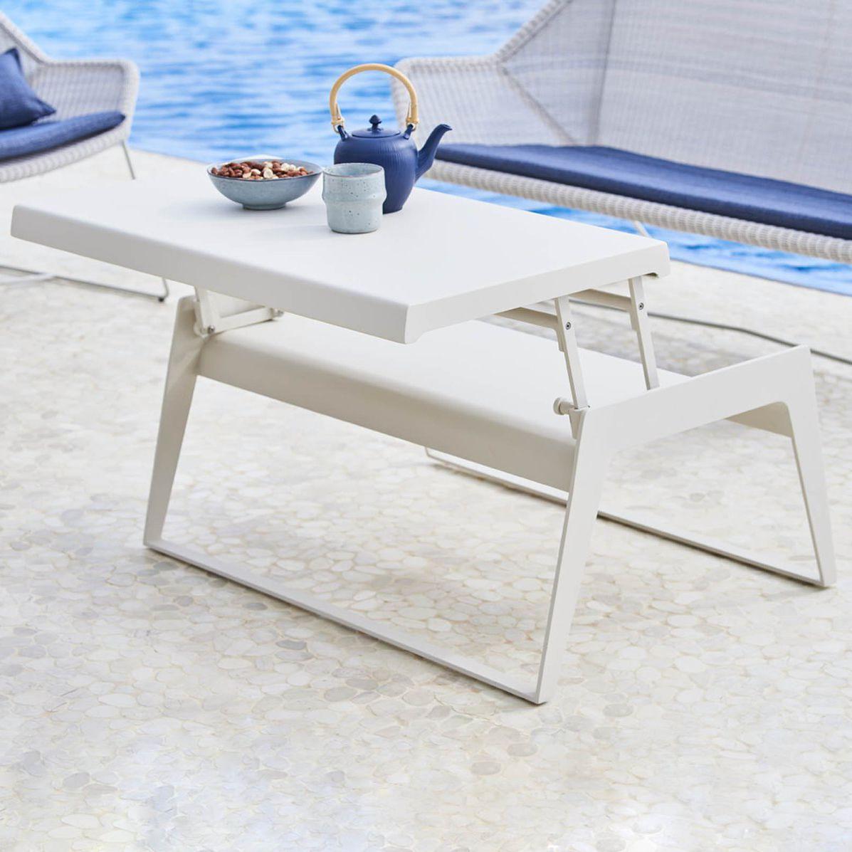 Table Basse Contemporaine / En Aluminium / Rectangulaire / De Jardin  Chill-Out : 5023 By Strass & Hvass Cane-Line A/s encequiconcerne Desserte Jardin Plastique