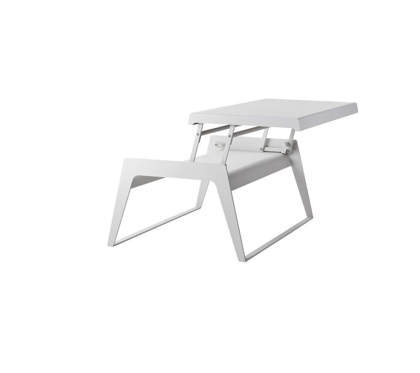Table Basse Contemporaine / En Aluminium / Rectangulaire ... intérieur Desserte Jardin Plastique