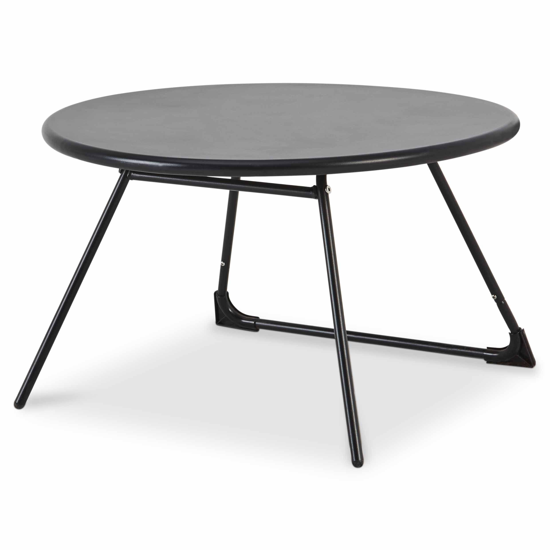 Table Basse De Jardin Blooma Nova Métal Noir Ø70 Cm | Table ... intérieur Paravent De Jardin Castorama