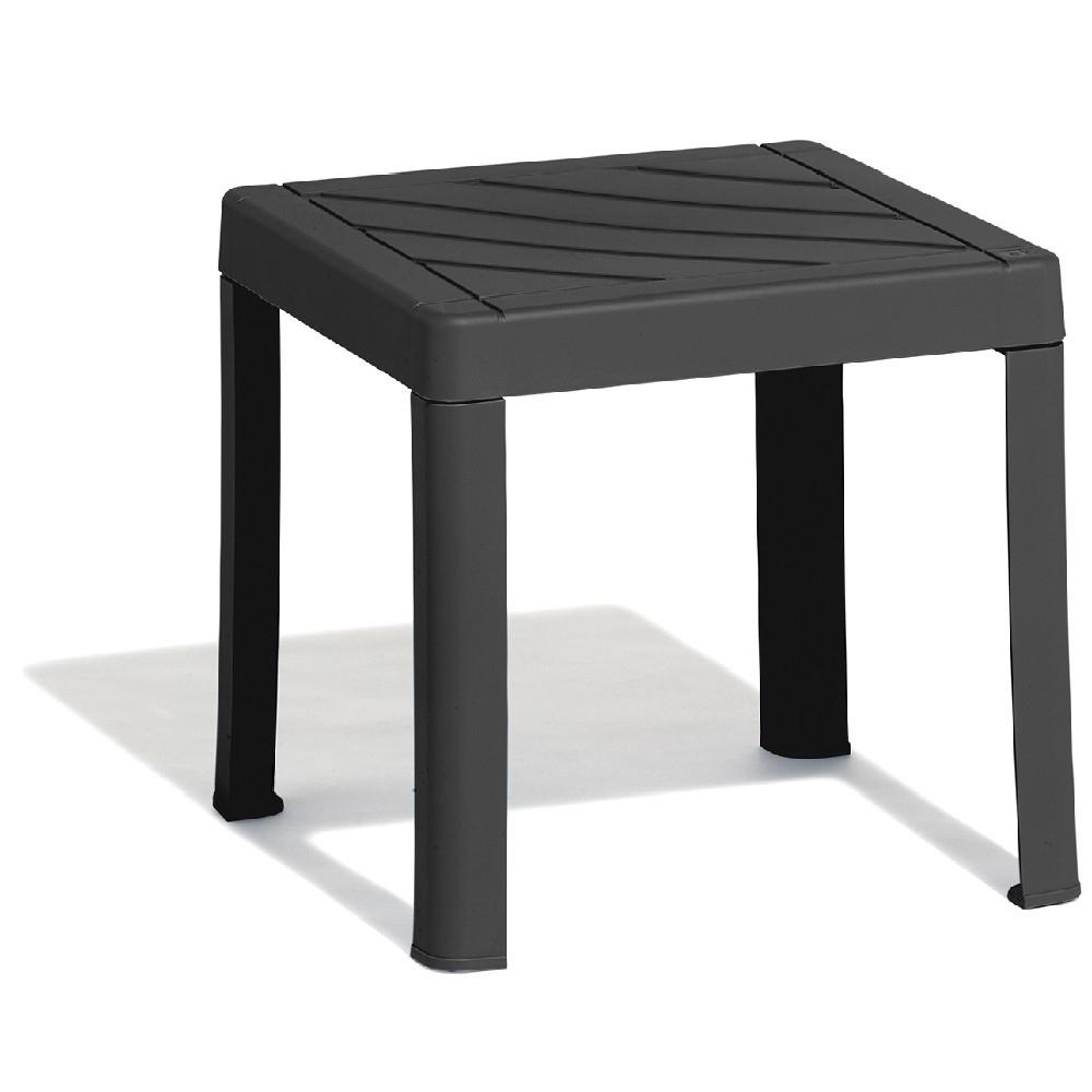 Table Basse De Jardin Carrée Gris Anthracite dedans Table De Jardin Carre