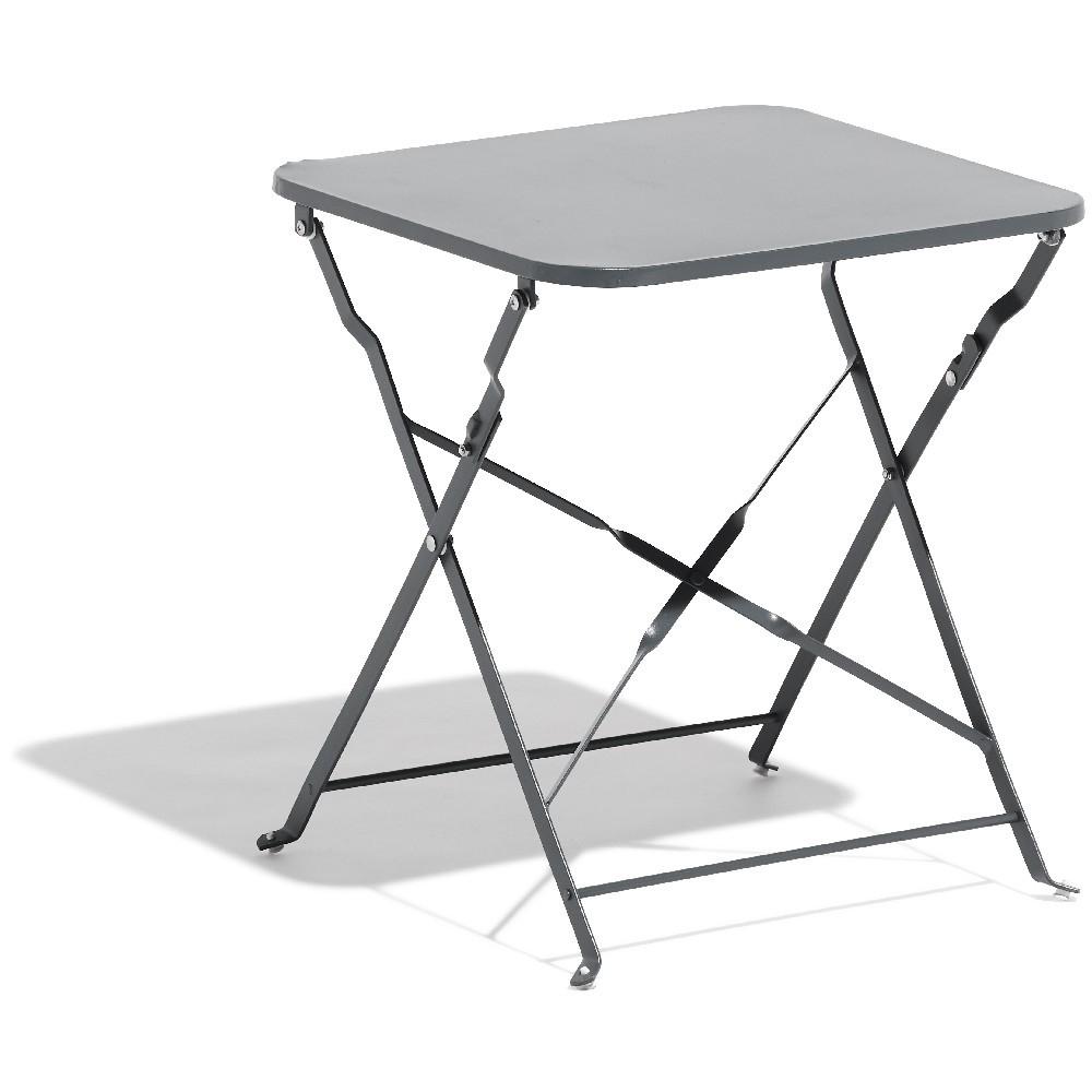 Table Basse De Jardin Carrée Métal Gris destiné Table De Jardin En Metal