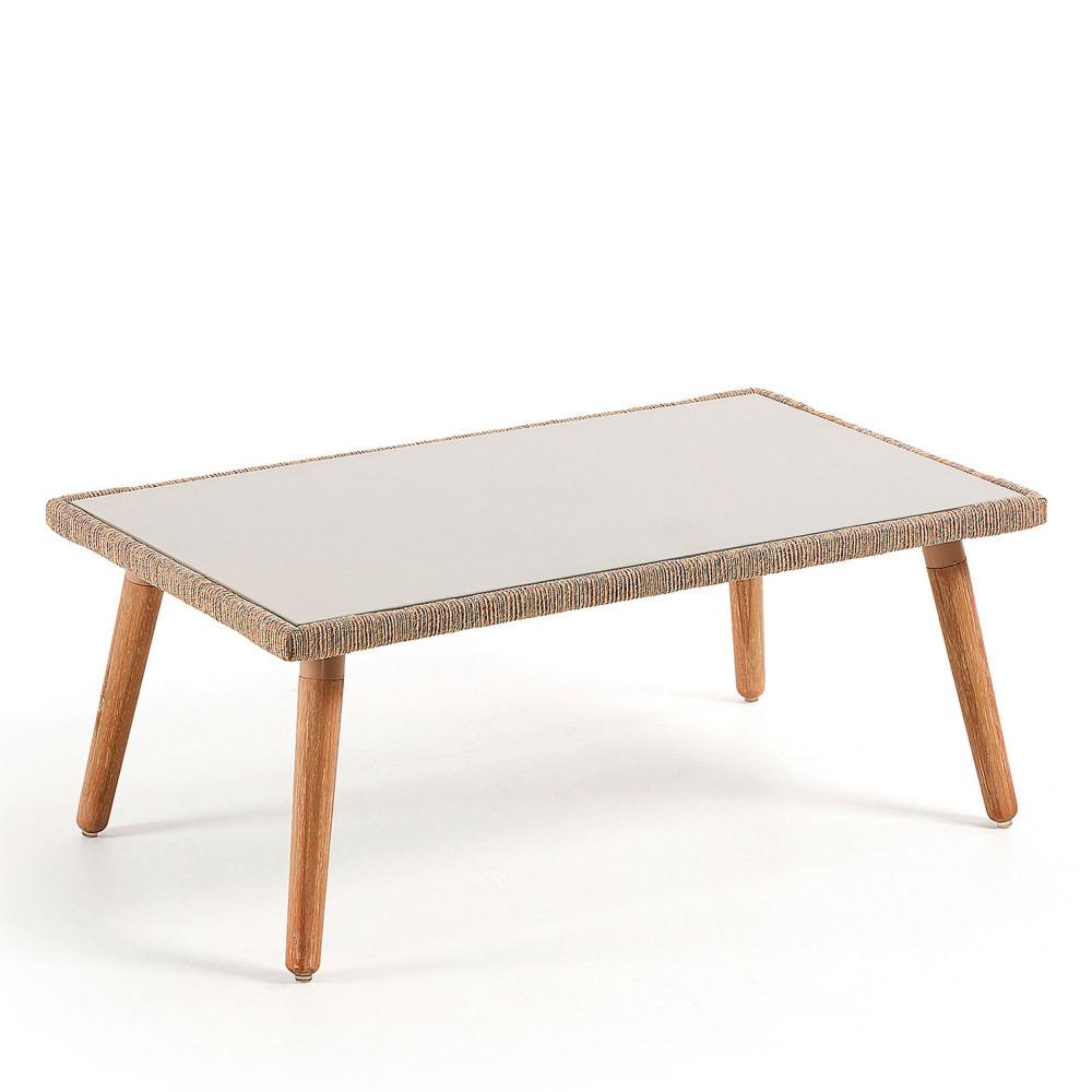 Table Basse De Jardin En Bois Et Ciment - Bordeira destiné Table De Jardin En Ciment