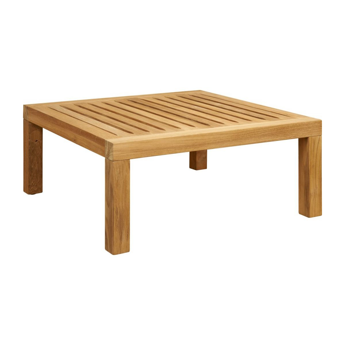 Table Basse De Jardin En Teck -Naturel - 70 X 70 Cm concernant Table De Jardin Carre