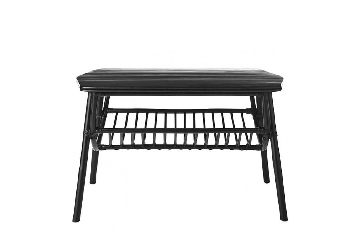 Table Basse Extérieur Rotin Noir Rotino Plus D's pour Table Basse De Jardin Pas Cher