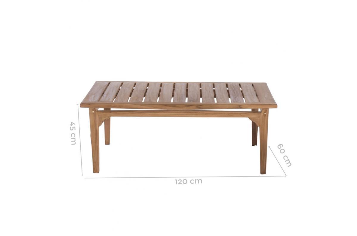 Table Basse Extérieur Teck Marron Paola Plus D's à Table Basse De Jardin Pas Cher