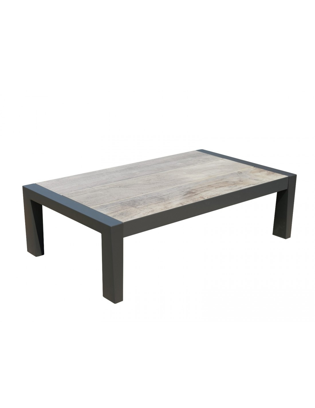 Table Basse Koi Aluminium Et Plateau Céramique Grise - Les Jardins serapportantà Table Jardin Ceramique