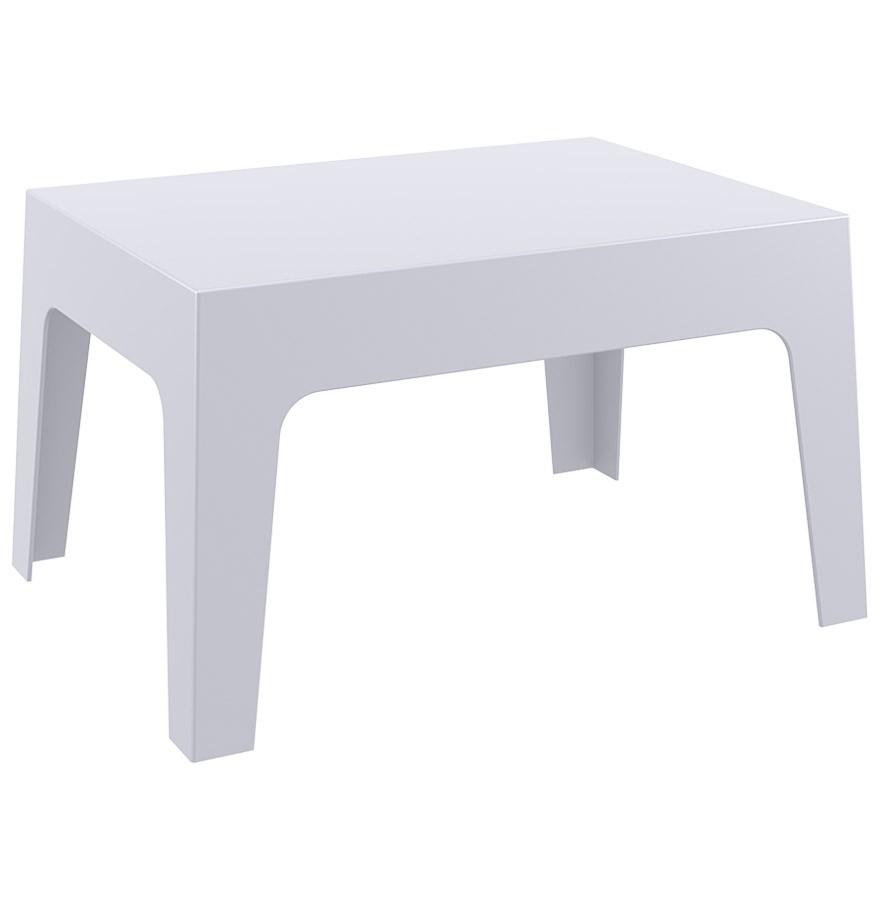 Table Basse 'marto' Grise Claire En Matière Plastique intérieur Table Basse De Jardin En Plastique