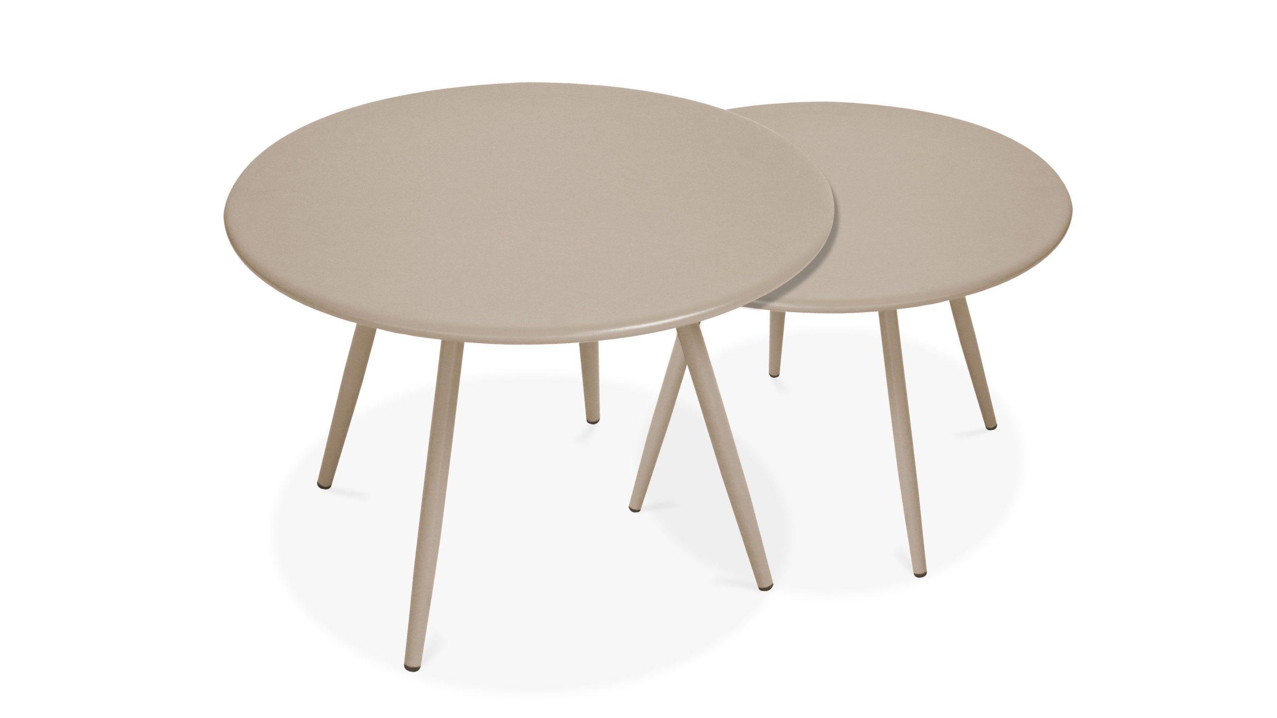 Table Basse Ronde Gigogne Jardin | Palavas serapportantà Table Basse De Jardin Pas Cher