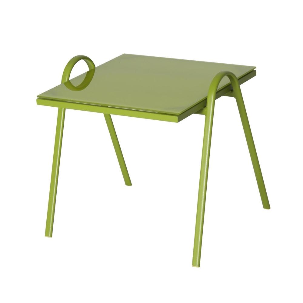 Table Basse Sydney Verte avec Table Jardin Verte