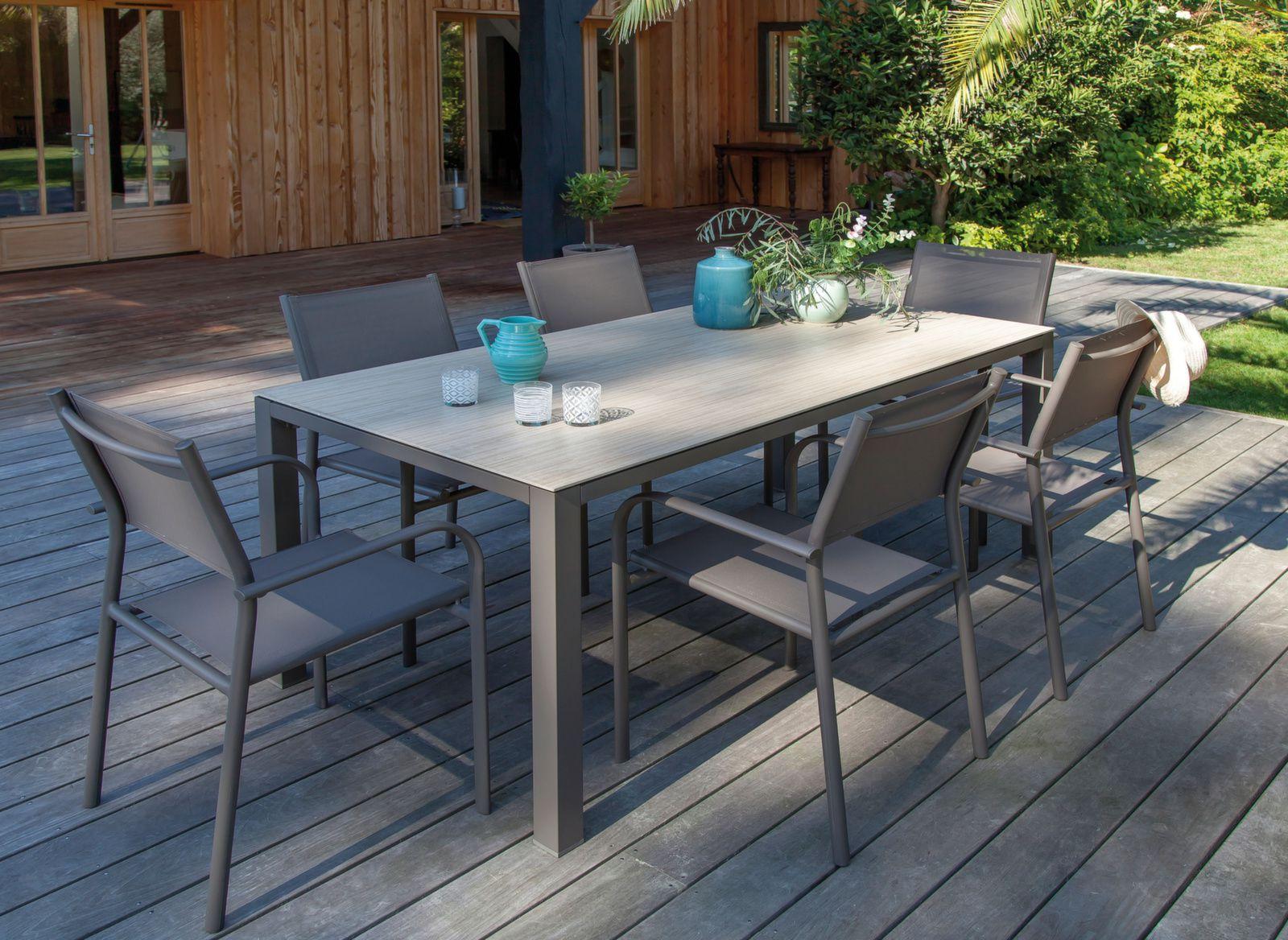 Table Bavella 180 Cm, Plateau Céramique concernant Table Jardin Ceramique