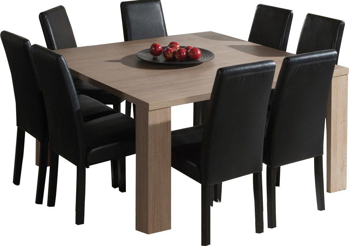 Table Carrée Salle À Manger Moderne Coloris Chêne Ardennes ... destiné Table De Jardin Carrée 8 Personnes