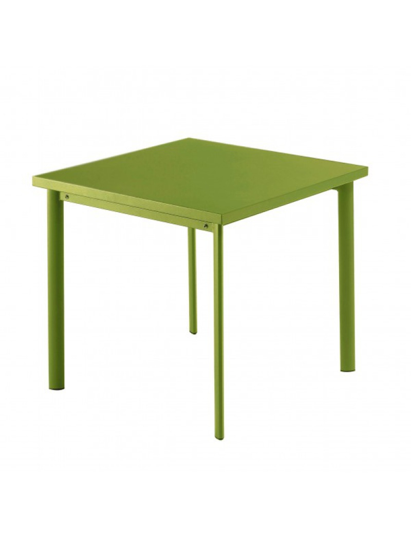 Table Carrée Star 70Cm Verte Claire pour Table Jardin Verte