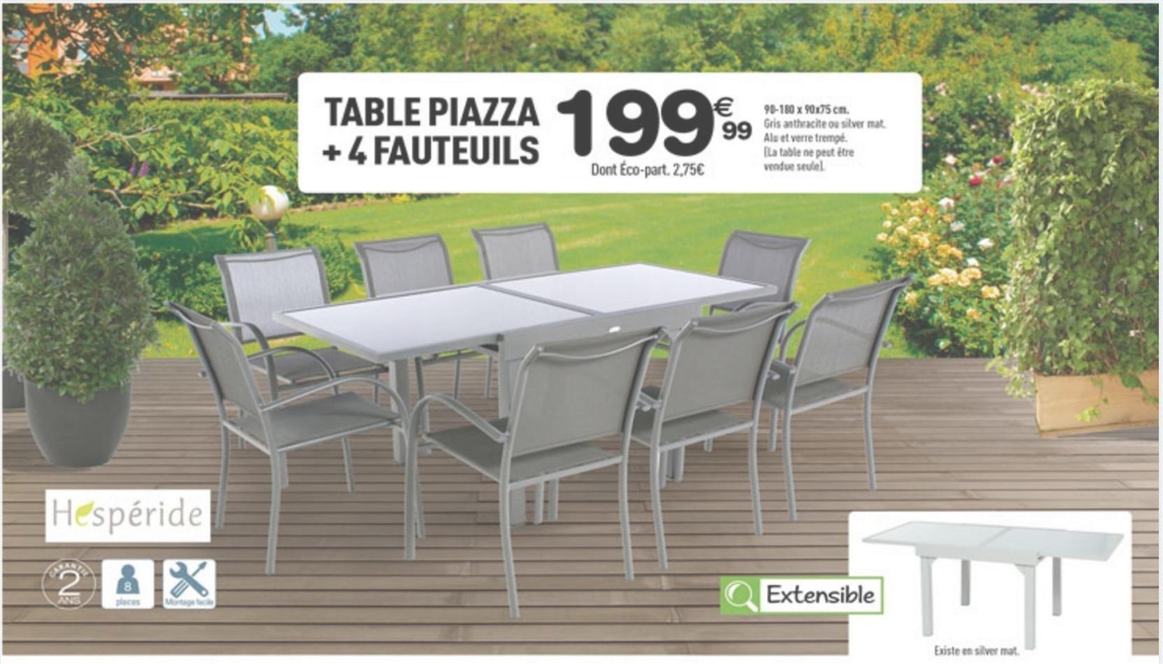 Table Centrakor Table De Table Centrakor De Hesperide ... avec Salon De Jardin Centrakor