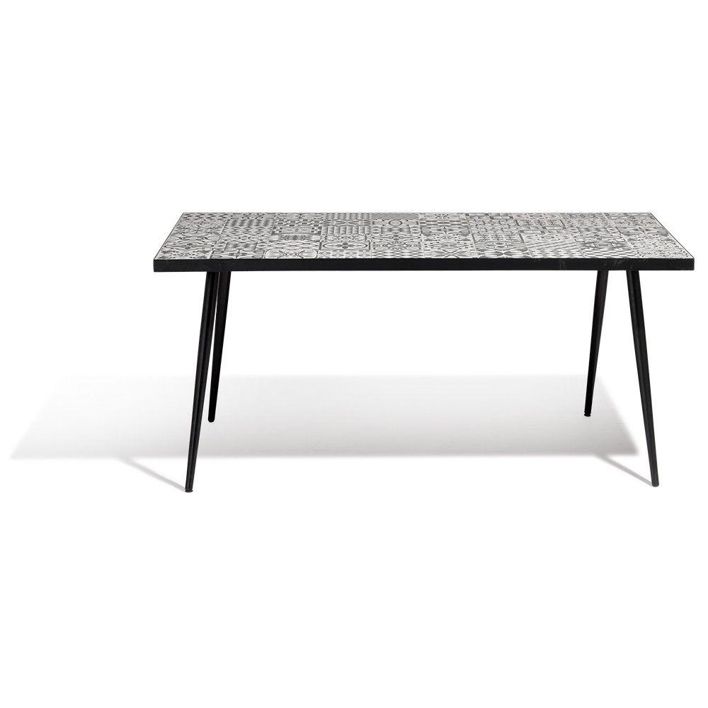 Table Céramique Acier 167X100X75Cm concernant Table Jardin Ceramique