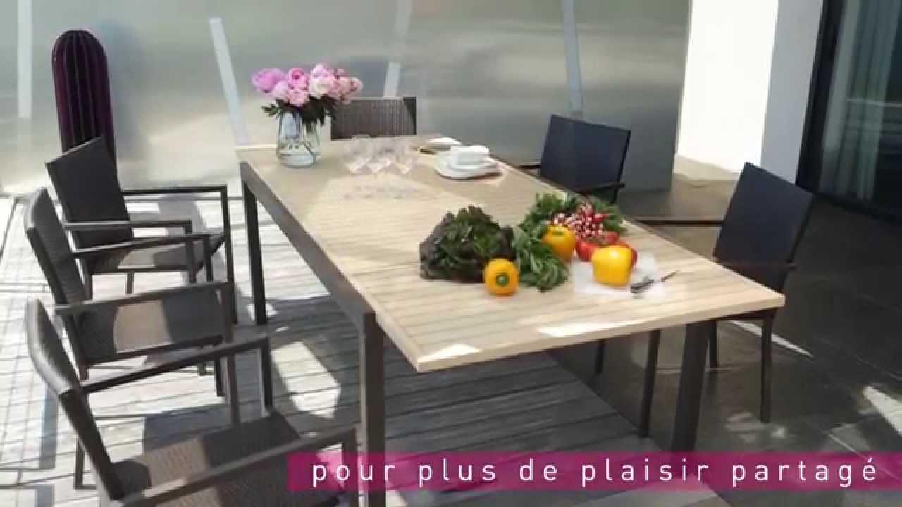 Table & Chaises Riverside : Le Mobilier De Jardin By Carrefour (Collection  2015) destiné Salon De Jardin Carrefour Home