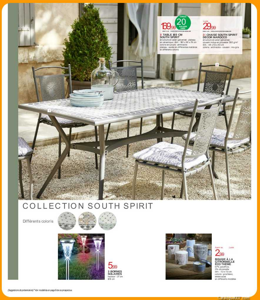 Table Chaises South Spirit Intermarche Avril 2017 - Intermarché tout Intermarché Table De Jardin