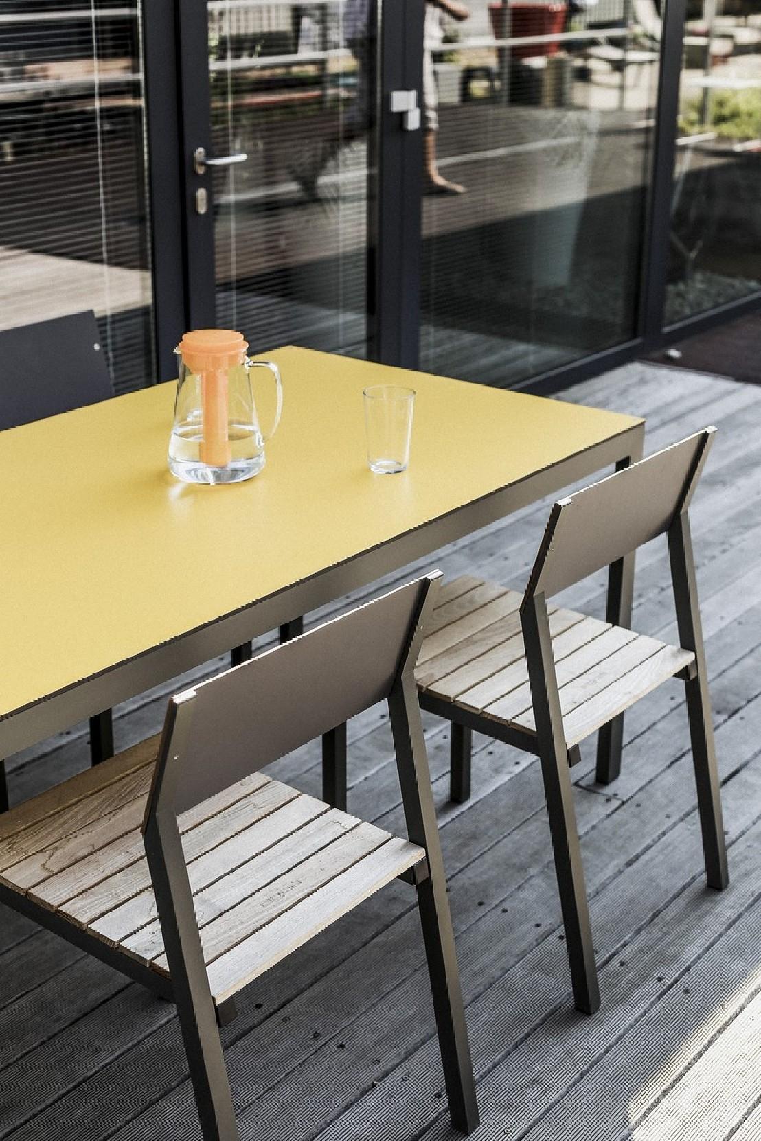 Table Cora Rectangle 175 Cm Pour Salon De Jardin En Métal ... à Salon De Jardin En Metal De Couleur