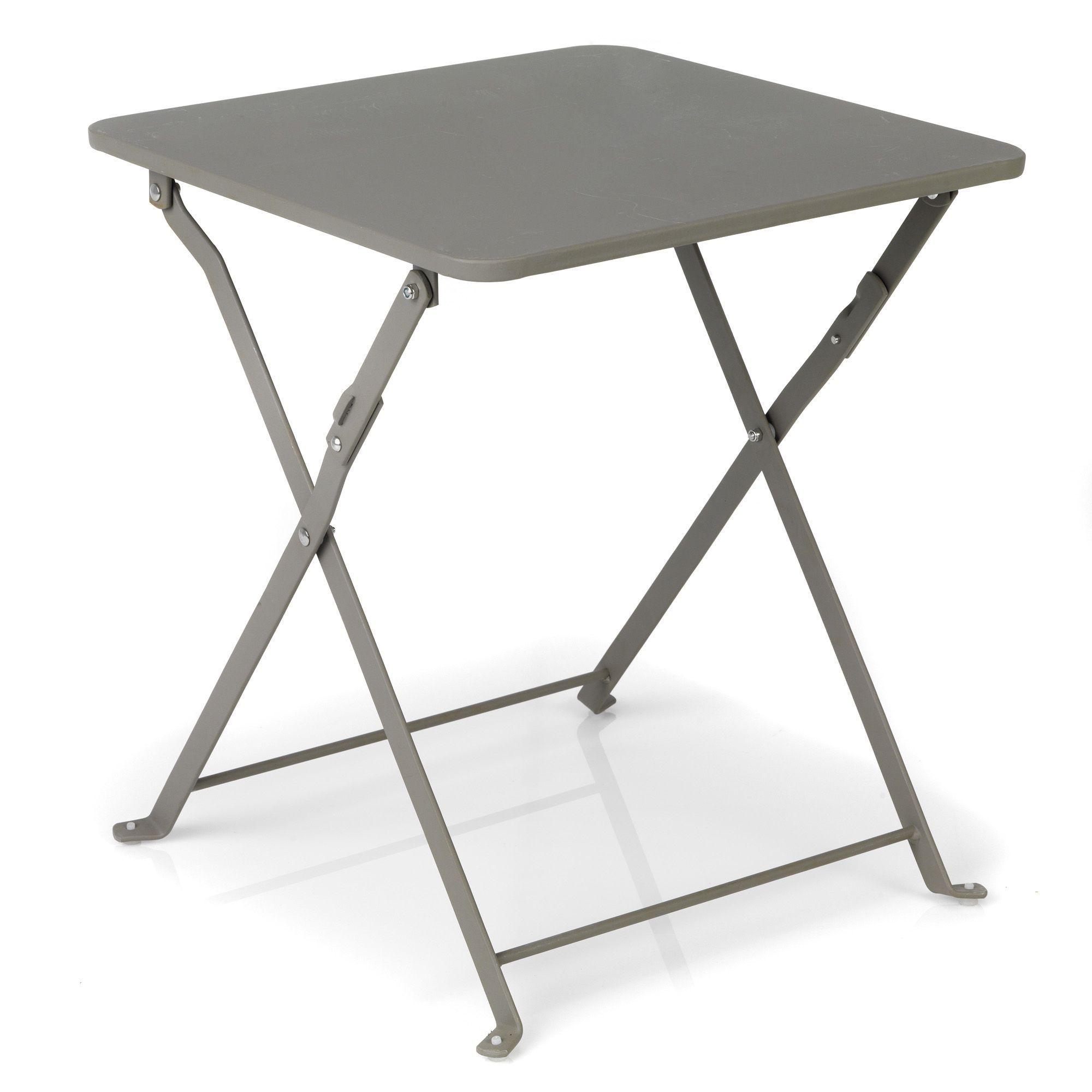 Table D'appoint Pliante Taupe - Ted - Les Tables Basses Pour ... à Table Basse De Jardin Pliante
