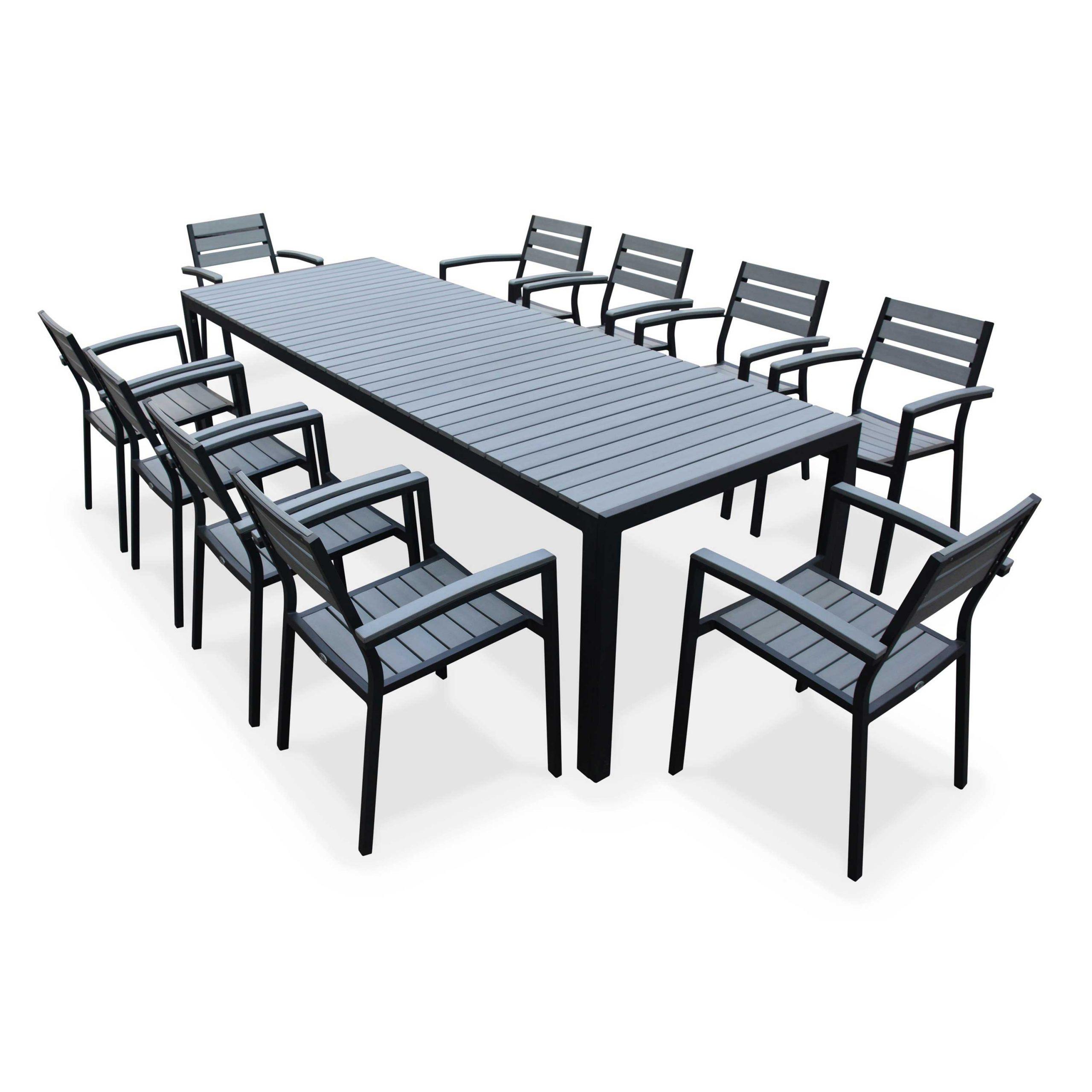 Table De 10 Jardin Personnes Castorama Rocqdxewb intérieur Salon Jardin Aluminium Castorama