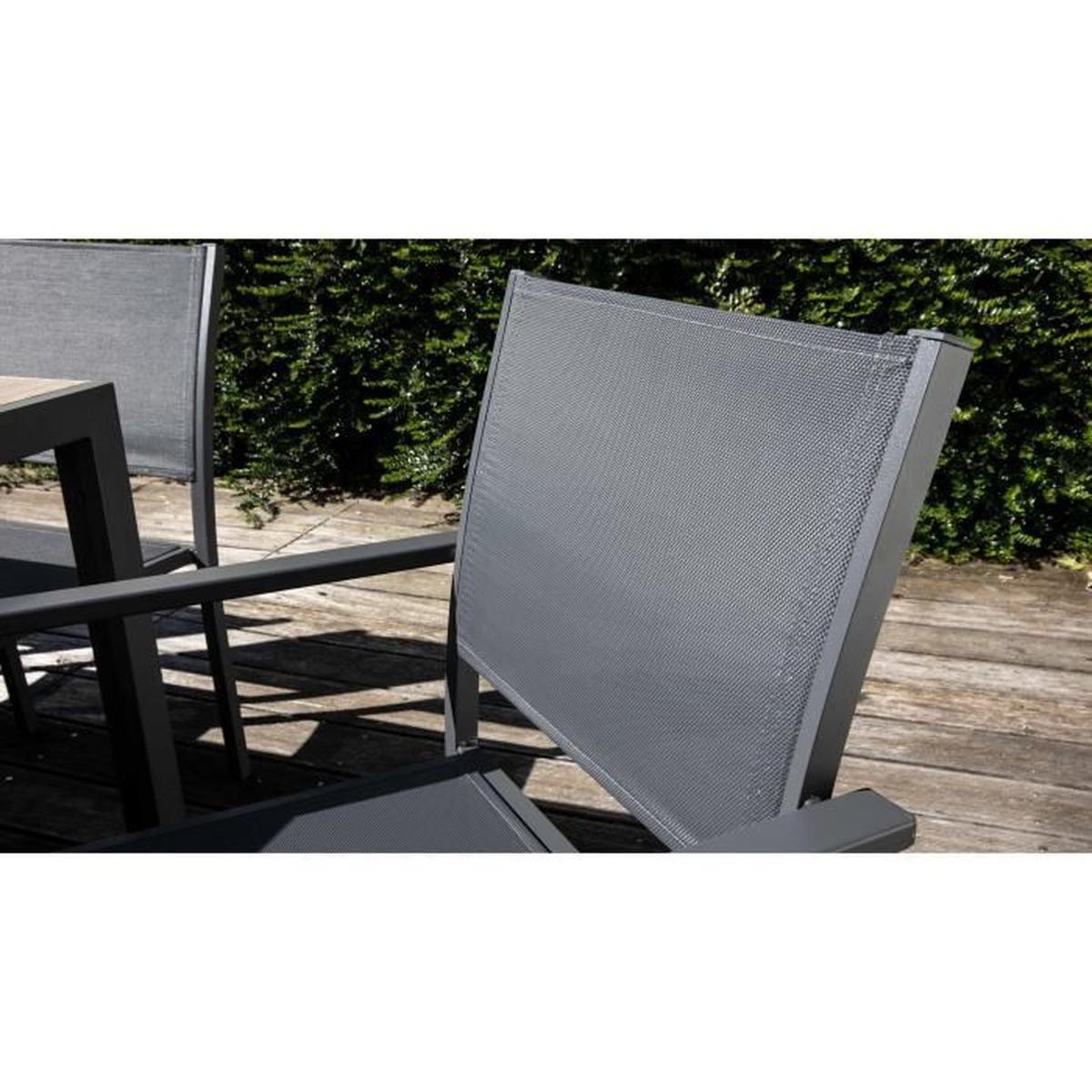 Table De Jardin 10 Places Aluminium Et Céramique - Ensemble ... avec Table De Jardin Cdiscount