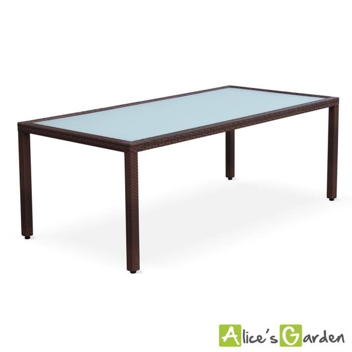 Table De Jardin 200Cm Salon En Résine Tressée 8… - Achat ... dedans Table De Jardin C Discount