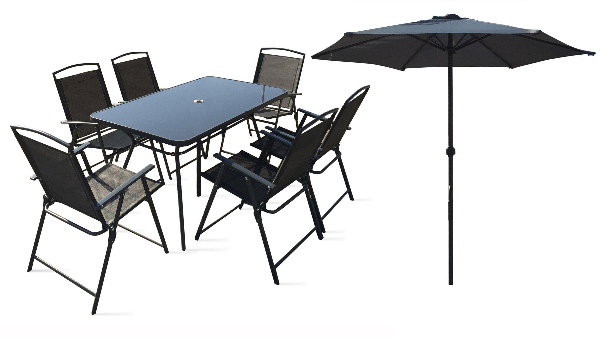 Table De Jardin 6 Chaises Et 1 Parasol serapportantà Table Et Chaises De Jardin Pas Cher