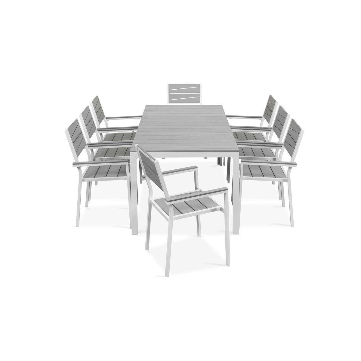 Table De Jardin 8 Places Aluminium Et Polywood, Saint ... destiné Salon De Jardin Polywood