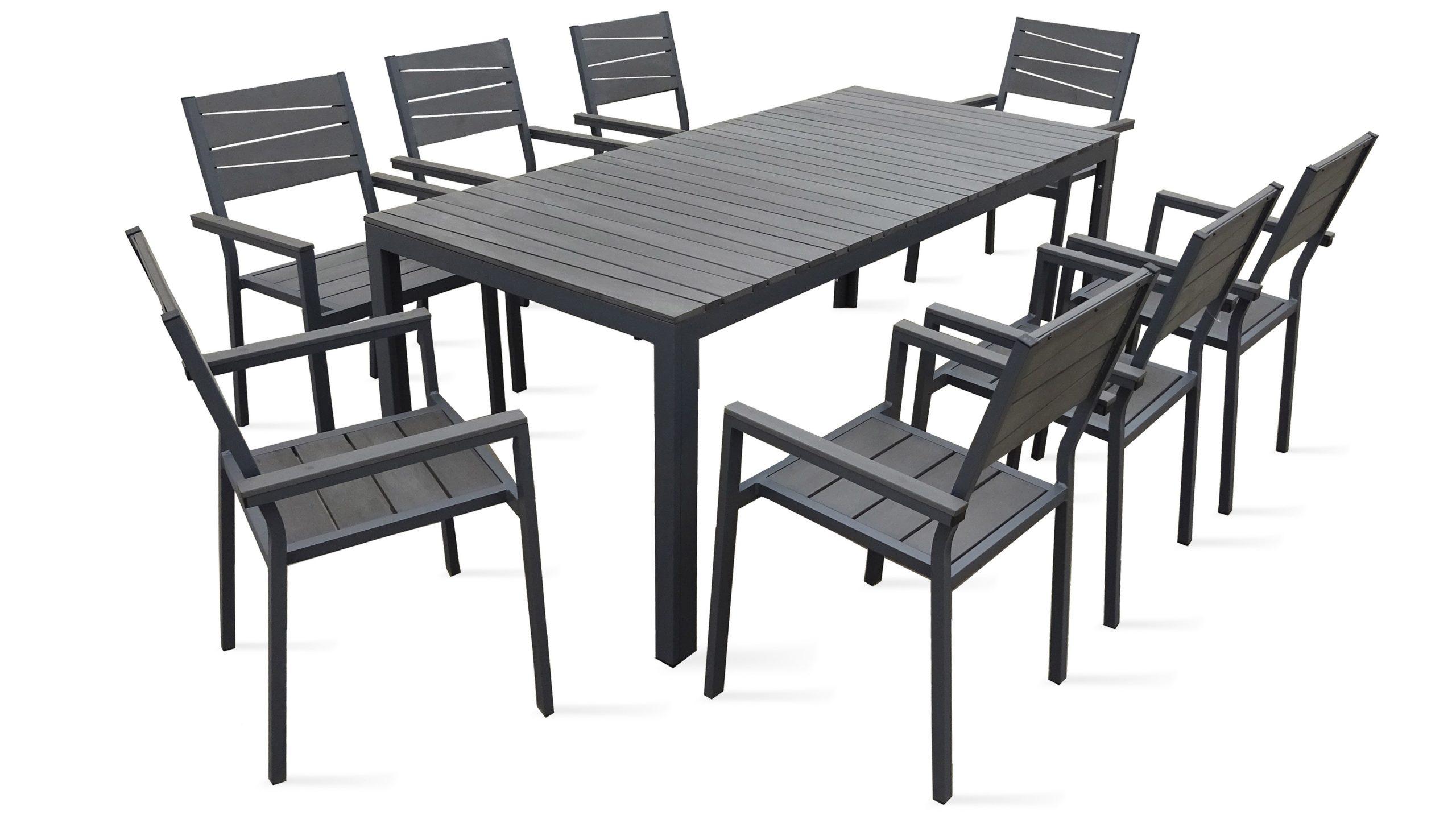 Table De Jardin 8 Places Aluminium Polywood avec Salon De Jardin Polywood