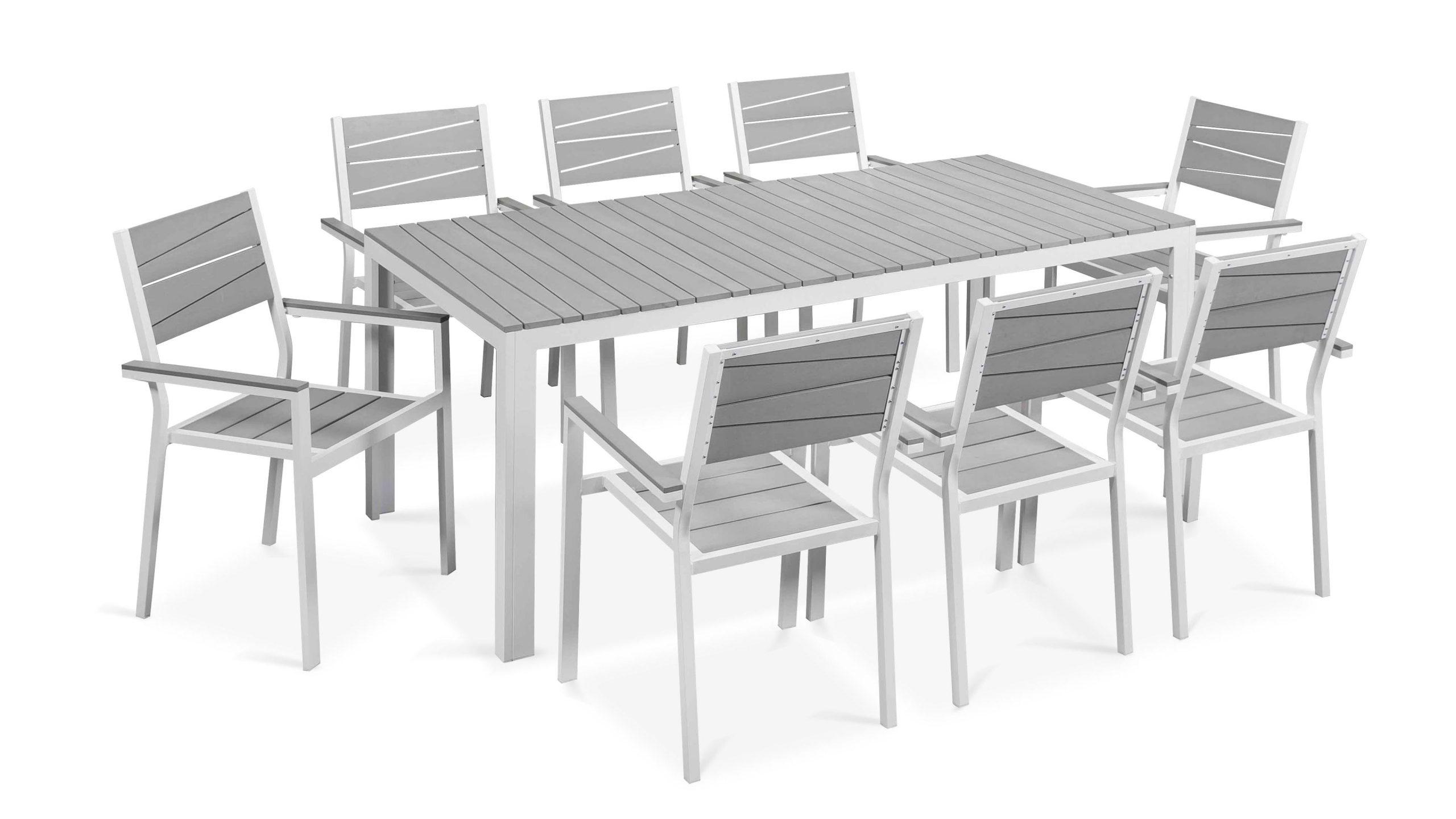 Table De Jardin 8 Places Aluminium Polywood concernant Salon De Jardin Aluminium Et Composite