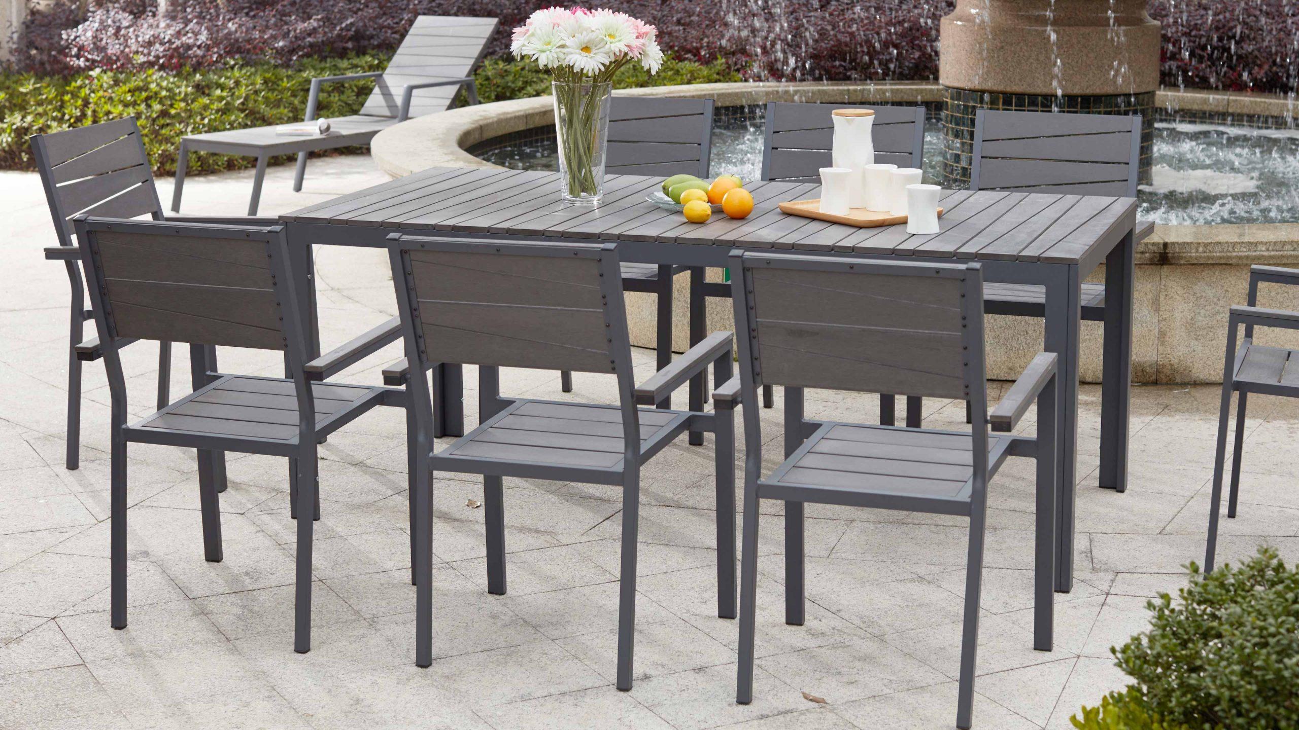 Table De Jardin 8 Places Aluminium Polywood dedans Salon De Jardin Polywood