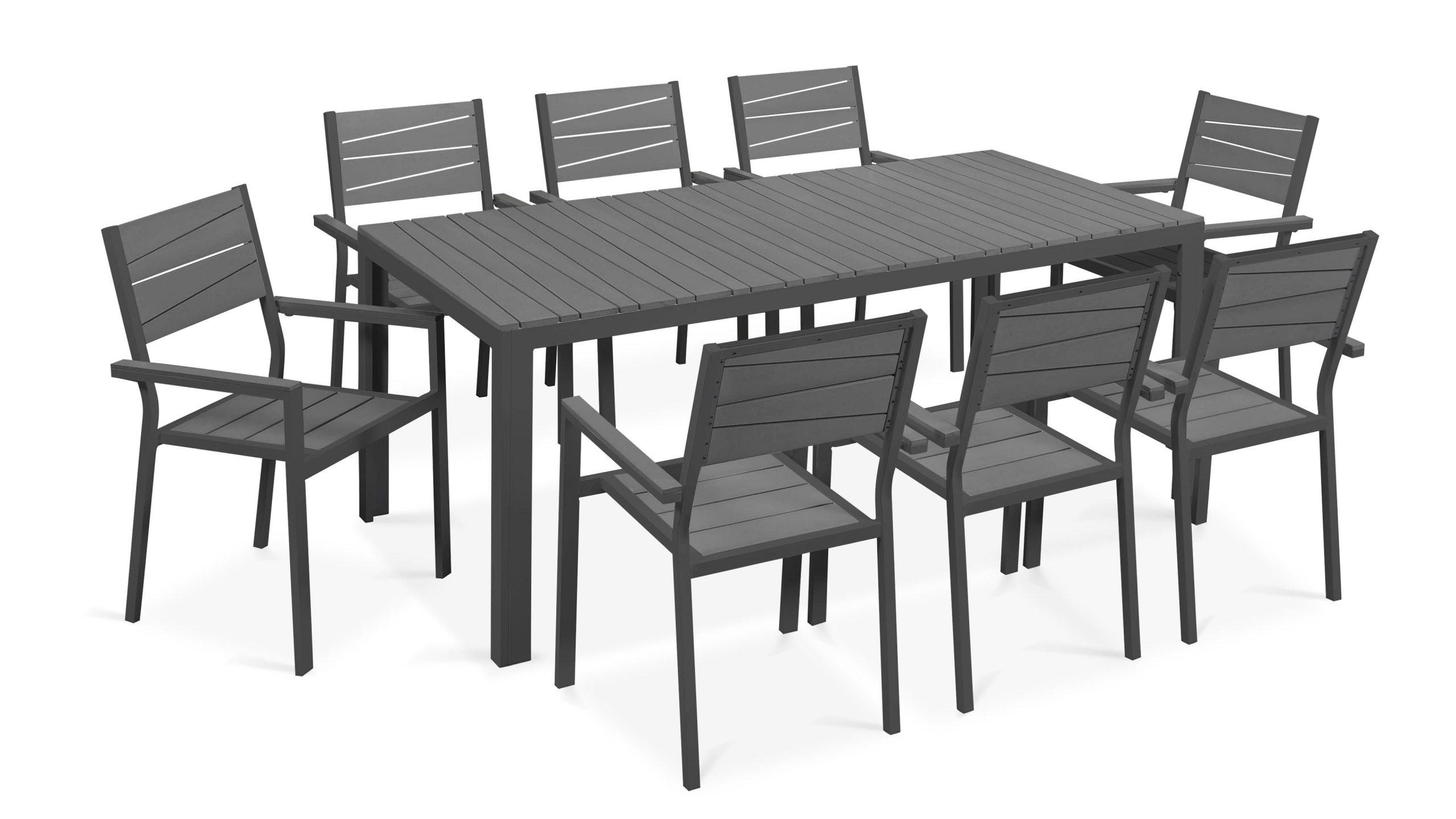 Table De Jardin 8 Places Aluminium Polywood destiné Salon De Jardin Polywood