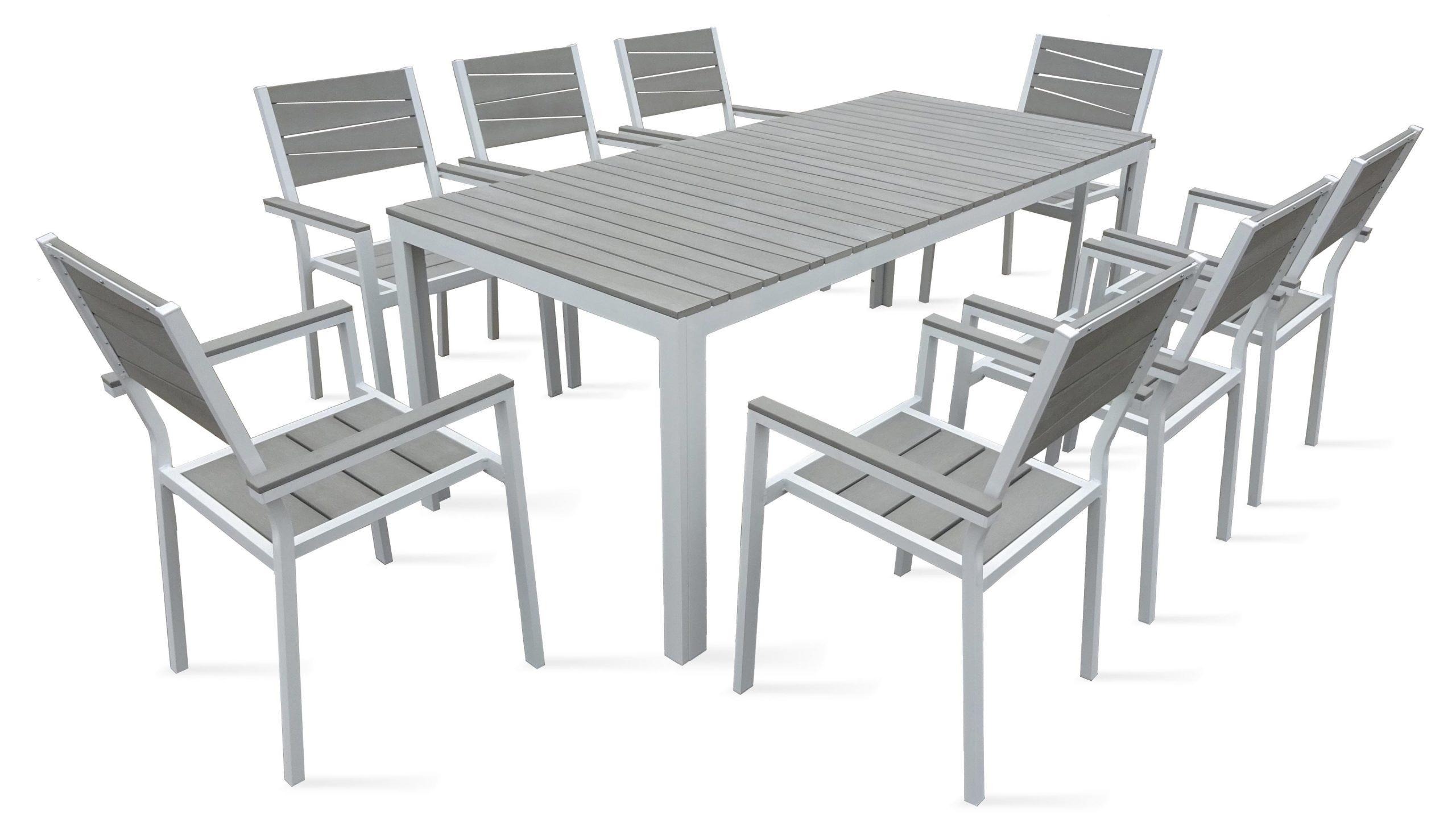 Table De Jardin 8 Places Aluminium Polywood tout Salon De Jardin Alu Pas Cher