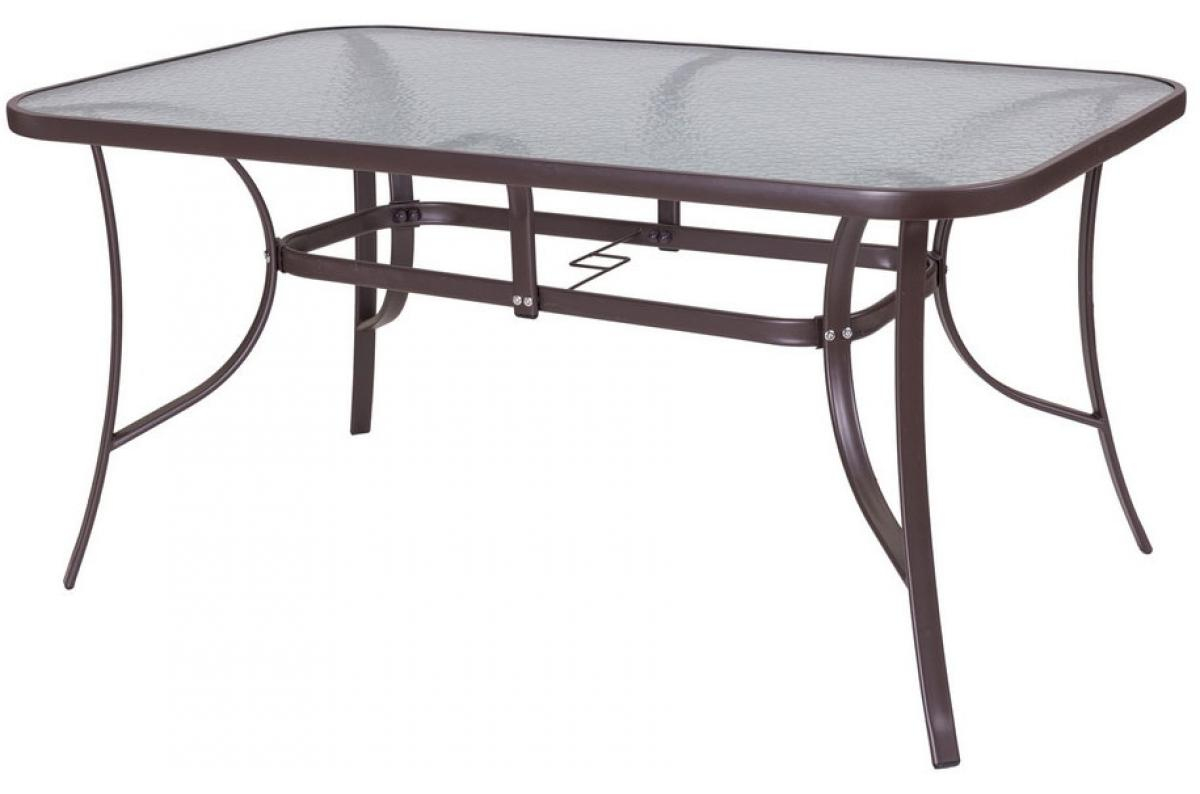 Table De Jardin Acier-Verre Marron Neila Plus D's concernant Table De Jardin En Solde