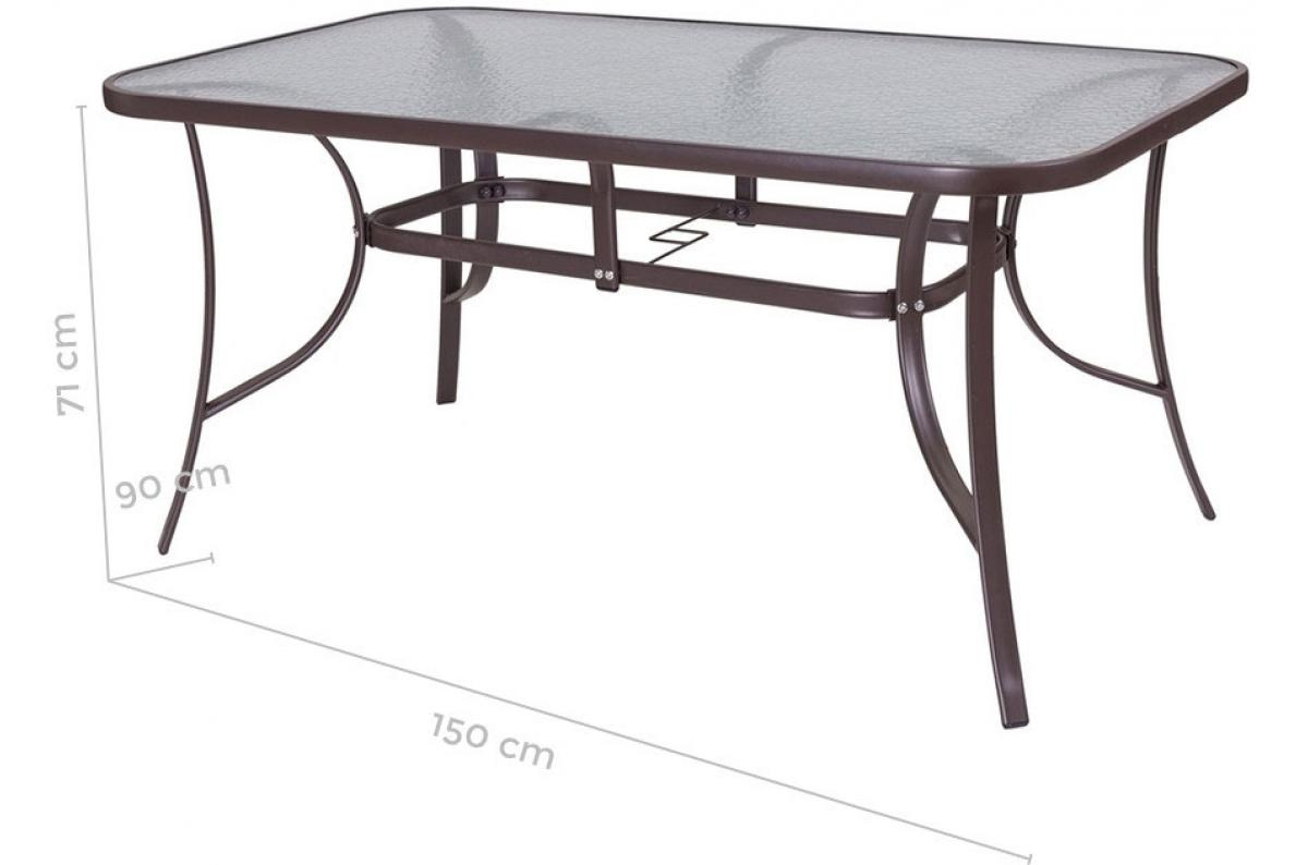Table De Jardin Acier-Verre Marron Neila Plus D's serapportantà Tables De Jardin Pas Cher