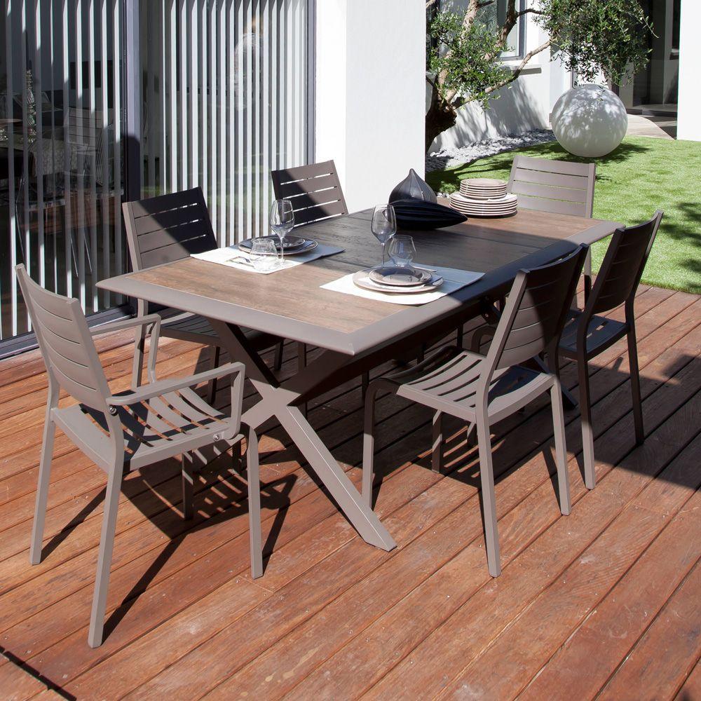 Table De Jardin Aluminium Des Idées - Idees Conception Jardin intérieur Table Jardin Ceramique