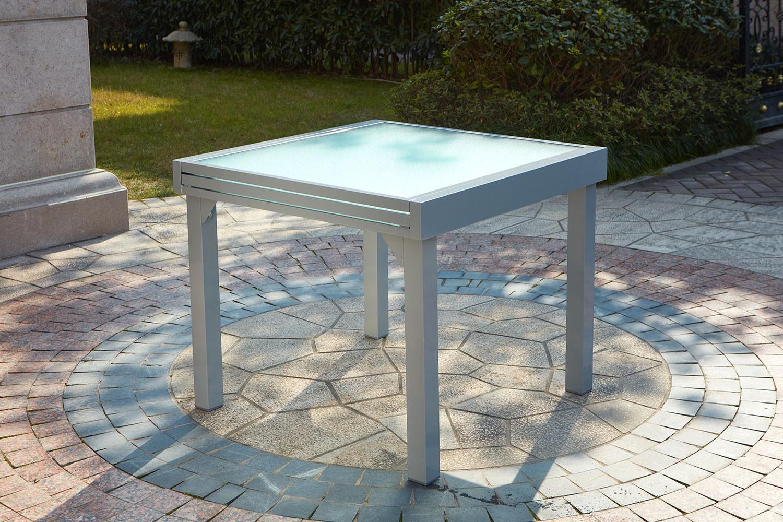 Table De Jardin Aluminium Des Idées - Idees Conception Jardin pour Table De Jardin Aluminium Et Verre